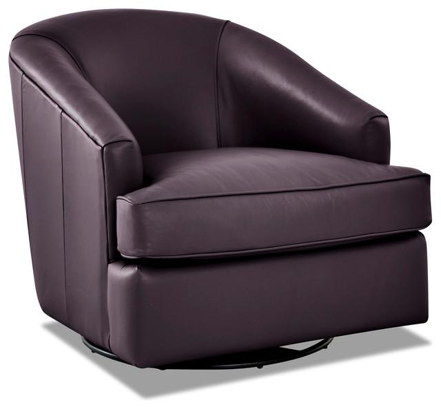 Wondrous Avenue 405 Lamar Leather Swivel Gliding Accent Chair Purple Beatyapartments Chair Design Images Beatyapartmentscom