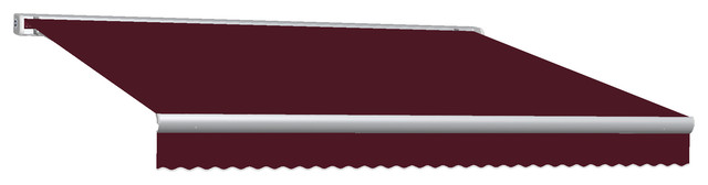 10&x27; Key West Full Cassette Manual Retractable Awning, Burgundy.
