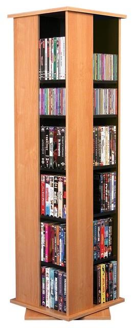 ... Horizon CD/DVD Spinning Tower-Oak - Modern - by Racks-N-Cabinets, Inc