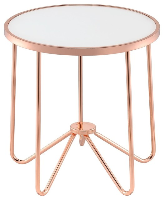 ACME Alivia End Table Contemporary Side Tables And