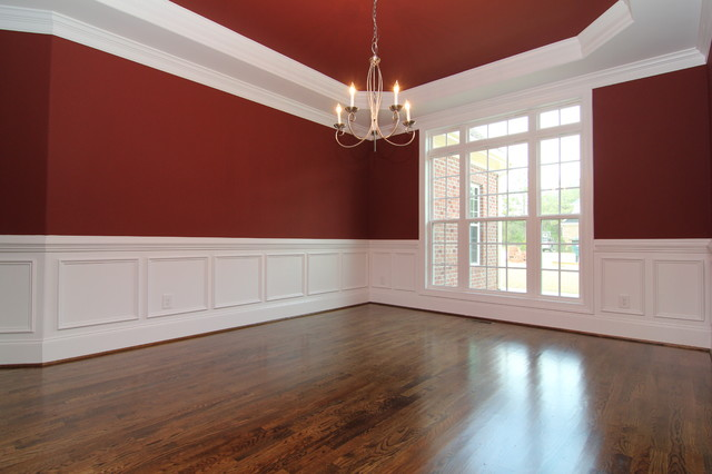 Dining room with wainscoting traditional raleigh by for Dining room wainscoting