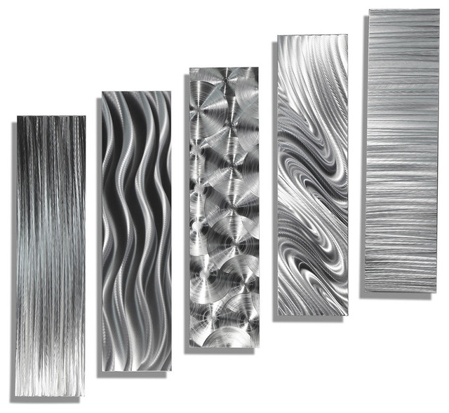 Abstract Handmade Metal Wall Décor - 5 Easy Pieces By Jon Alle.
