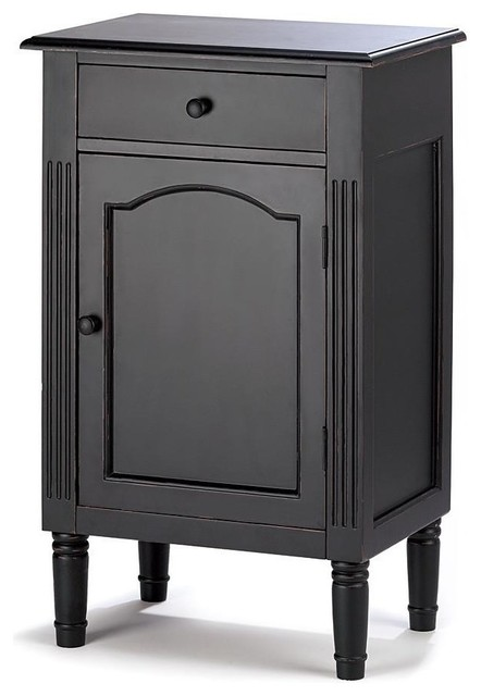 Antiqued Wood Cabinet, Black - Antiqued Wood Cabinet - Accent Chests And Cabinets - By VirVentures