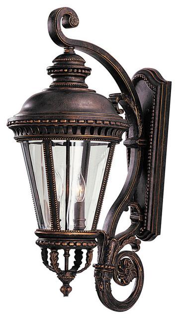 4- Light Wall Lantern, Grecian Bronze.