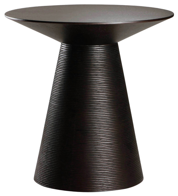 Anika Ebony Oak Side Table Modern Side Tables And End Tables