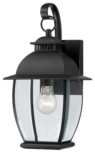 Bain 1-Light Outdoor Wall Lights, Mystic Black.