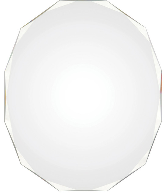"Astor 28"" Polygon Small Mirror, Polished."