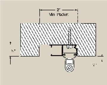 recessed curtain track installation
