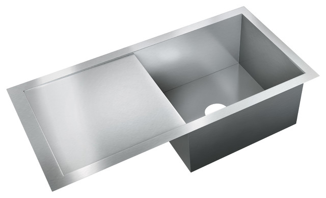 Just Sinks Just Single Bowl Flush Mount 19x37x10 Stainless Steel Sink ...