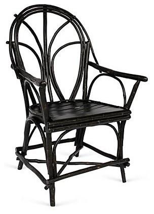 Penobscot Twig Chair, Black