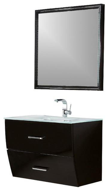how to gloss kitchen cabinets fresca platinum wave 32 quot glossy black modern bathroom 7255