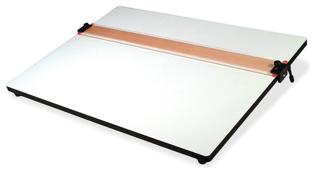 Helix Parallel Straight Edge Drawing Board Plastic White