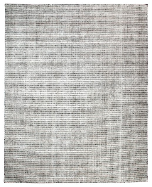 Nathan Distressed Flatweave Area Rug, Gray, 8&x27;x10&x27;.