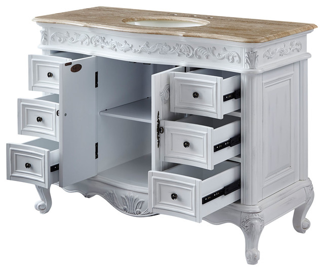 48 Inch White Bathroom Vanity With Single Sink Choice Of Top Traditional Victorian Bathroom Vanities And Sink Consoles By Unique Online Furniture