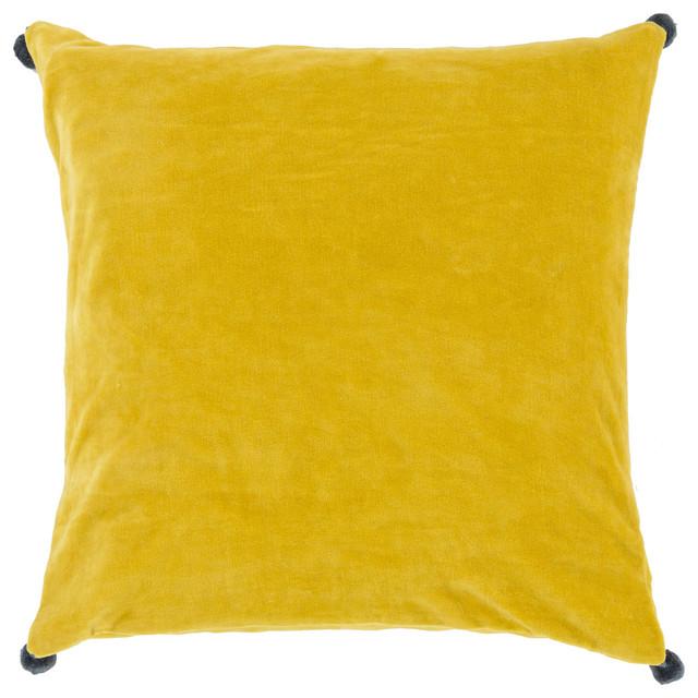 Cotton Velvet Decorative Pillows : Surya - Square Cotton Velvet Pillow VP-007 - View in Your Room! Houzz
