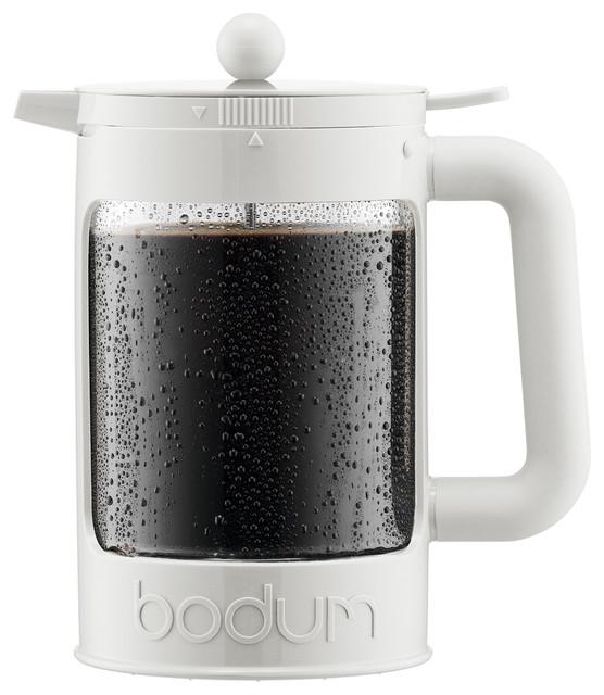 Bodum Bean Cold Brew Ice Coffee Maker, White.