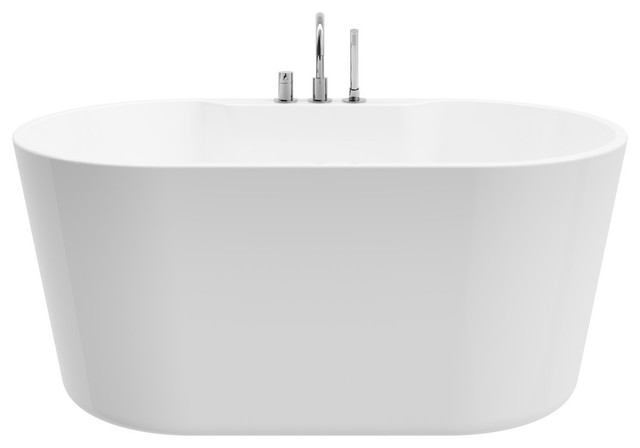 Retro Pure Acrylic 56 All In One Oval Freestanding Tub Kit