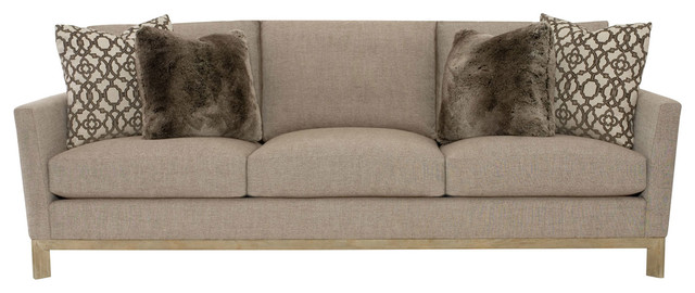 Ernie Modern Classic Brown Beige Oak Sofa.