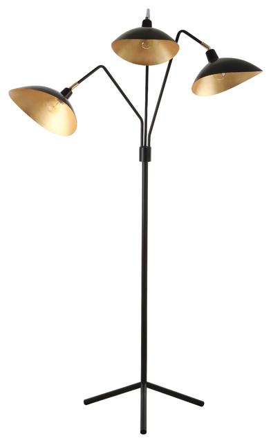 """Safavieh Iris 69.5""""H Floor Lamp, Black"""