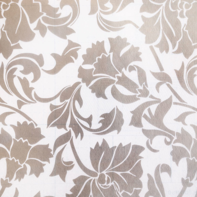 silver peony self adhesive embossed window film home decor roll wallpaper - Wallpaper House Decor