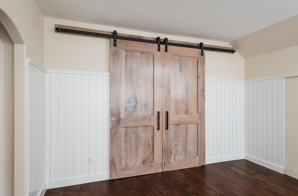 Reclaimed Oak Media Room Doors