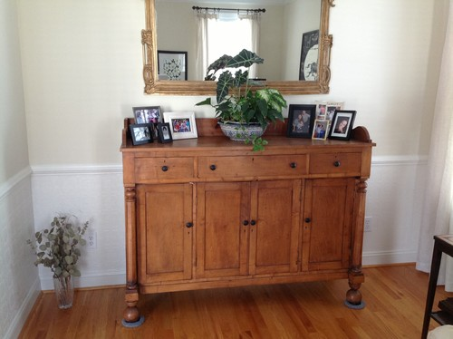 How Should I Decorate The Top Of My Antique Sideboard