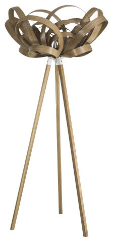 Bloom Light/wooden Floor Stand.