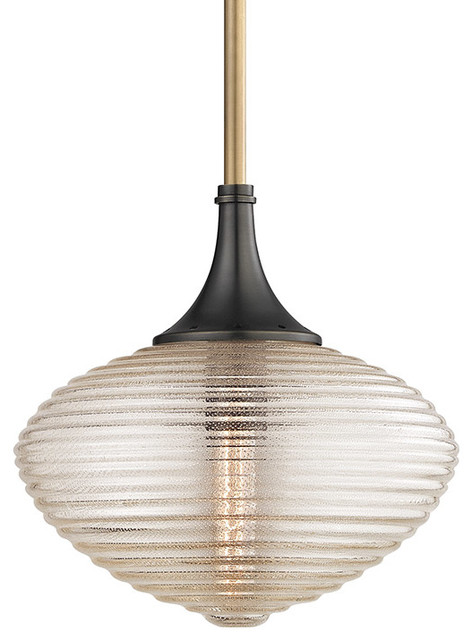 Pendant 1 Light With Aged Old Bronze Finish T10 5 Bulb Type 12 75w Clear