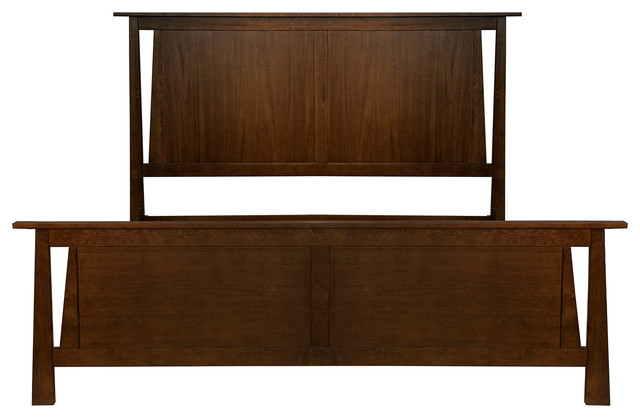 A-America Furniture Sodo King Panel Bed, Sumatra Brown Sodwb5130.