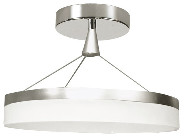 Dainolite ltd kepler led circular semi flush mount silver flush