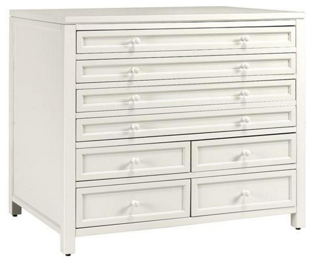 Eight Drawer Flat File Cabinet - Transitional - Filing Cabinets - by Luxe Home Decorators