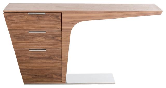 Walnut 3-Drawer Work Desk.