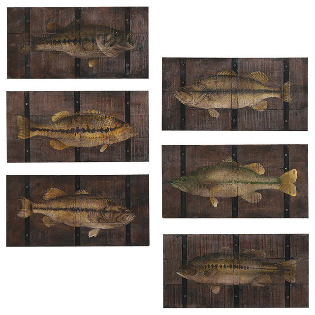 Guild Master 162572S Angler\'s Trophies Wall Art, Set of 6 - Beach ...