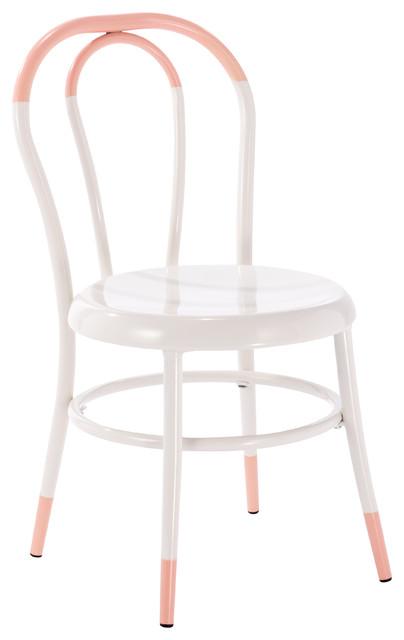 Ellie White Kids Bistro Chair Dipped Soft Pink Kids
