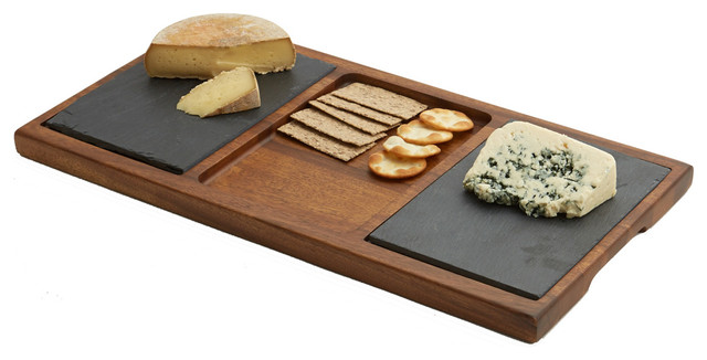 Double Slate Cheese Board  sc 1 st  Houzz & Double Slate Cheese Board - Farmhouse - Cheese Boards And Platters ...