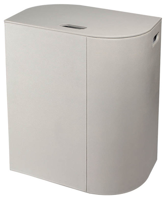 Ws Bath Collections Vela 2464 Laundry Basket, Light Gray.