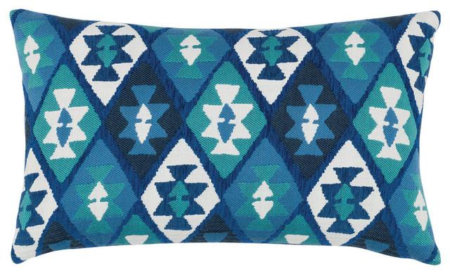 Elaine Smith Canyon Diamond Lake Lumbar Pillow Scandinavian Outdoor Cushions  And Pillows