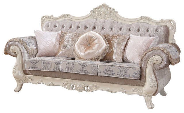 venice sofa traditional sofas by meridian furniture