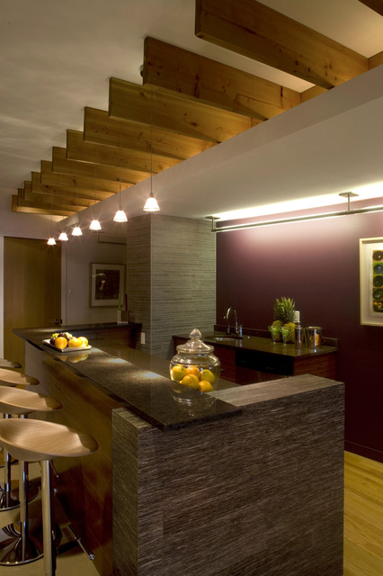 Example of a trendy home design design in Other
