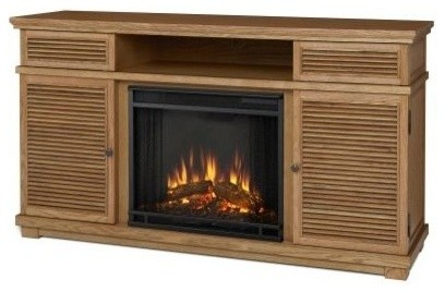 Real Flame Cavallo Fireplace Tv Stand Elm Modern Indoor