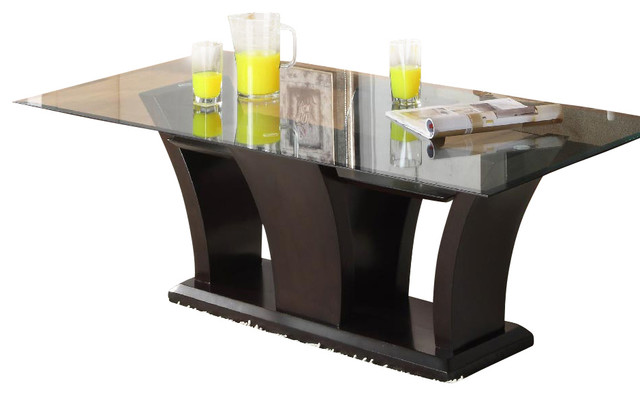 Homelegance Daisy 3 Piece Coffee Table Set In Espresso Traditional Console Tables