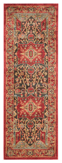 Safavieh Forbach Woven Rug, Red, 2&x27;2x8&x27;.