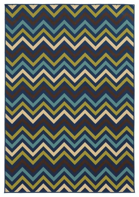 Oriental Weavers Riviera Navy-Blue 7&x27;10x10&x27;10 Area Rug.