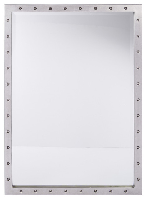 Reid Beveled Mirror With Silver. -1