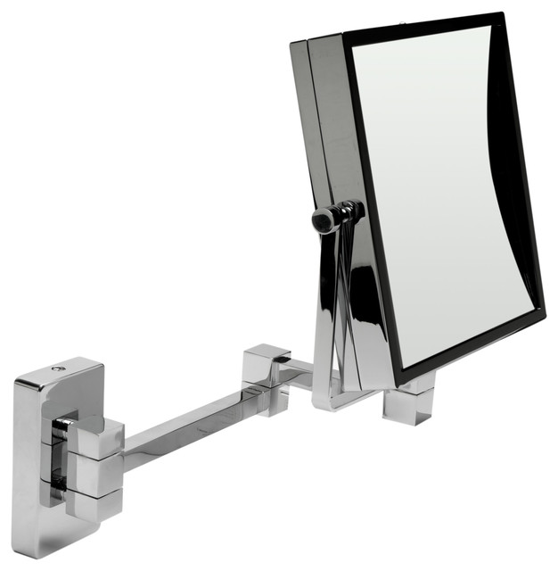 Alfi 8 Square Wall Mounted 5x Magnify Cosmetic Mirror