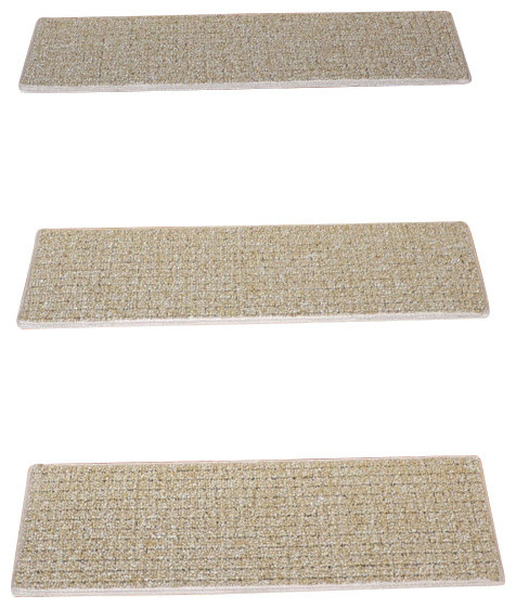 Indoor Or Outdoor Non Slip Carpet Stair Treads, Seashore, Set Of 15  Contemporary