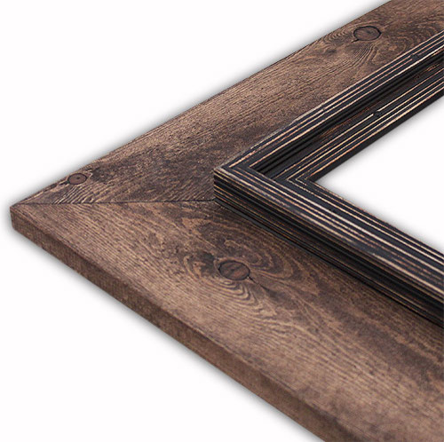 """Cheyenne Black Picture Frame, Solid Wood, 8""""x10"""""""