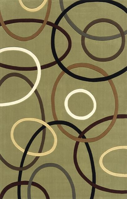 Momeni Elements Sage Green Abstract Circles Contemporary 2u0027 X 3u0027 Rug By  RugLots Contemporary