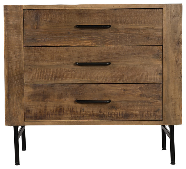 Bristol Reclaimed Pine Three Drawer Dresser