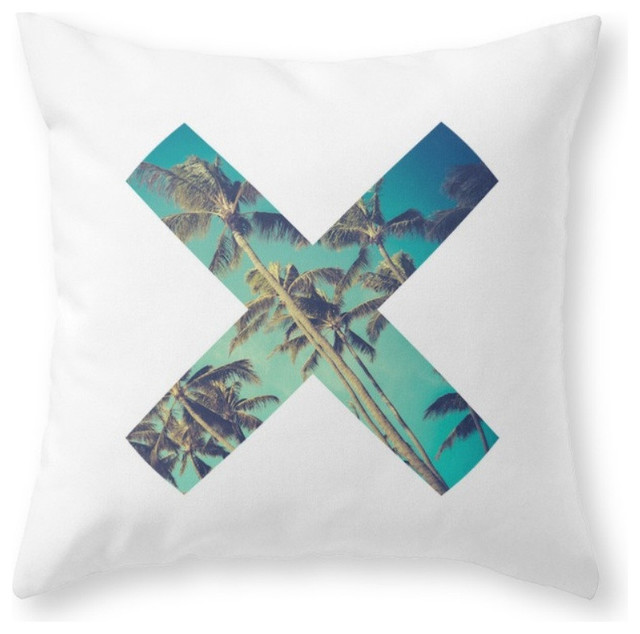 Palm Trees Throw Pillow, Indoor Cover, 16